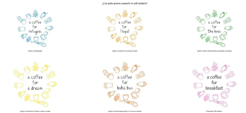 ¿Con quién quieres compartir tu café solidario_