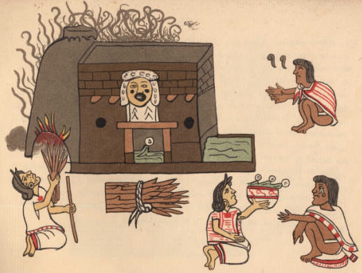 Codex_Magliabecchi_pg_065_Aztec_steam_bath_temezcalli