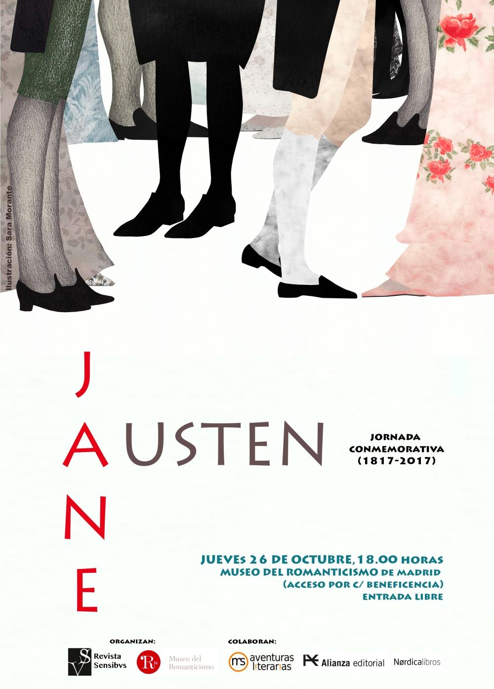 Cartel Jane Austen marcas corte